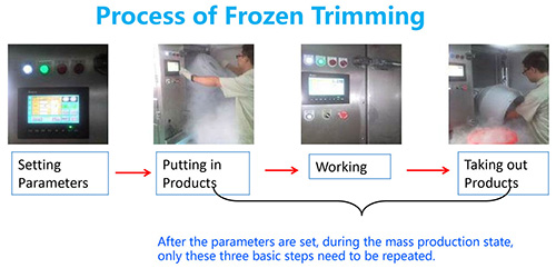 Process of Frozen Trimming