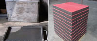 Rubber Granules Application, Rubber Tiles Making Project, 1 Upper Mould 2 Lower Moulds A