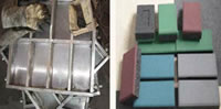Rubber Granules Application, Rubber Tiles Making Project, 1 Upper Mould 2 Lower Moulds E