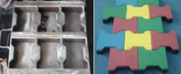 Rubber Granules Application, Rubber Tiles Making Project, 1 Upper Mould 2 Lower Moulds G