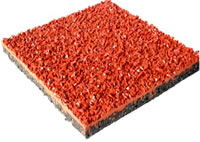 Rubber Granules Application, Sport Fields Construction Project, Case A, 13mm Sandwich Composite Running Track Tile