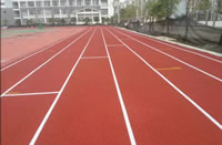 Rubber Granules Application, Sport Fields Construction Project, Case A, 13mm Sandwich Composite Running Track