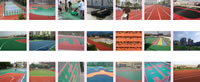 Rubber Granules Application, Sport Fields Construction Project, Case A, 13mm Sandwich Composite Running Track A