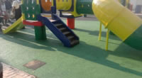 Rubber Granules Application, Sport Fields Construction Project, Kindergarten Playing Yard
