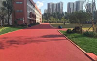 Rubber Granules Application, Sport Fields Construction Project, Residential Area Fitness Runway