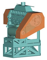Waste Tyres Recycle Line, Fine Rubber Shredder XJX Series