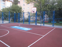 Rubber Powders Derived From Waste Tyres, Application, Basketball Court
