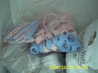 Baby Bottles, Plastics Fittings Samples