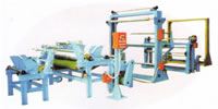 All Steel Radial Tyre Coated Cord Fabric Longitudinal Cutting Machine, Tire Cord Ply Vertical Slitter