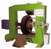Finished Tyres Edging Machine BTMB Series For Tires Letters Colors Recurrence