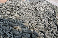 Scrap Waste Tire Storage Yard