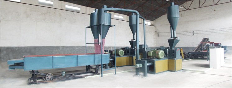 Waste Tyre Recycling Line, Double Rollers Type