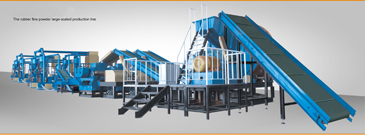 Waste Tyre Recycle Rubber Powder Production Line