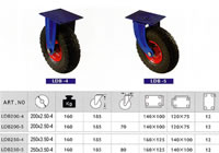 Heavy Caster, Heavy Threaded Rod Rubber Wheel